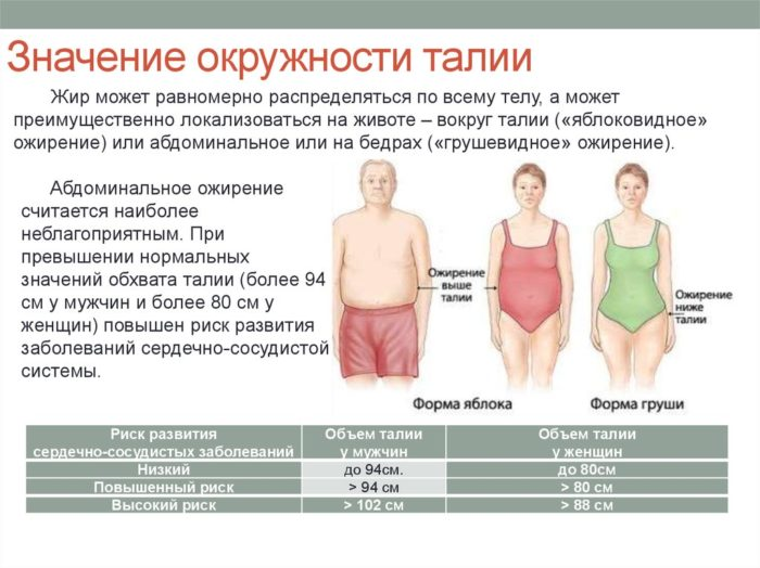 Абдоминальное ожирение у женщин и мужчин 3